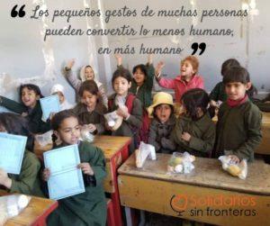 """""""Los pequeños gestos de muchas personas pueden convertir lo menos humano en más humano"""""""