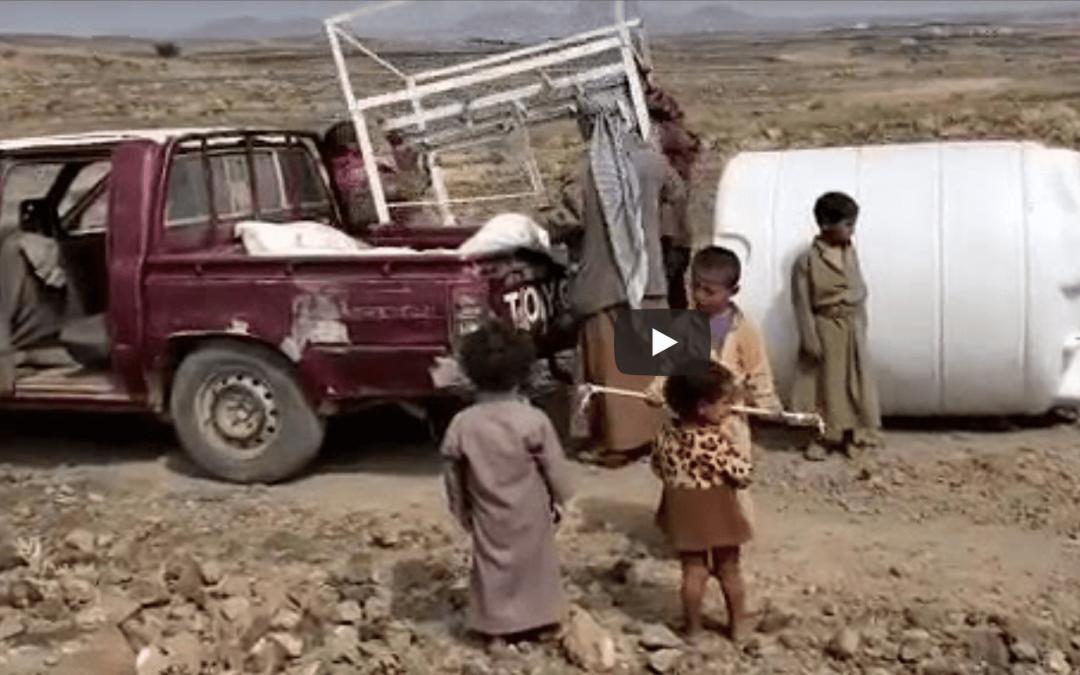 Nuevo depósito de agua en el campo de desplazados