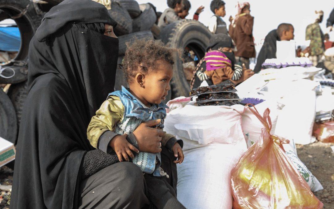 el dolor en yemen. ayuda a familias desplazadas en Yemen