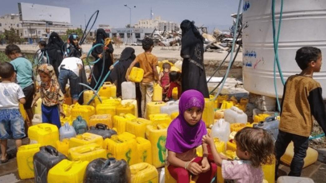 Falta agua Yemen