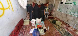 repartimos comida a las familias en Yemen