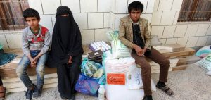 comida para las familias yemenitas