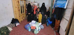 reparto productos de alimentacion e higiene en Yemen