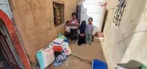 reparto productos de alimentacion en Yemen