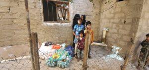 mujer y niños en Yemen