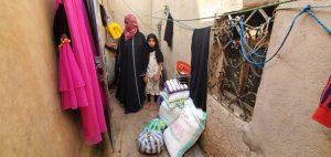 reparto cajas comida, Yemen
