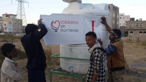 etiquetado de nuestro depósito de agua, Yemen
