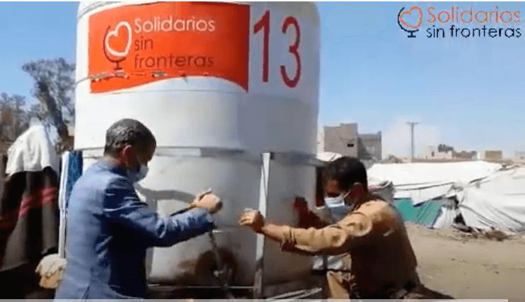 Mantenimiento depósitos agua en Yemen