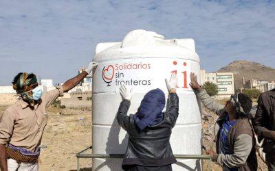 Nuevo depósito de agua en Bayt Baws