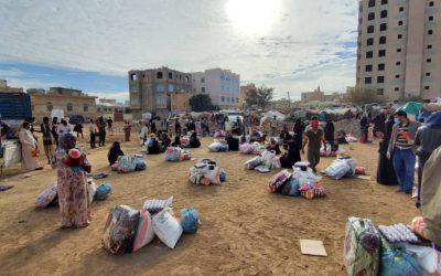 Mantas y Alimentos para Yemen