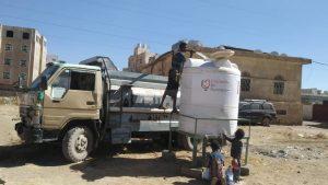 Agua para Yemen en campo de desplazados de Raydah