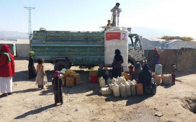 Agua para Yemen, campos desplazados