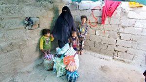 packs de alimentación para las familias, Yemen