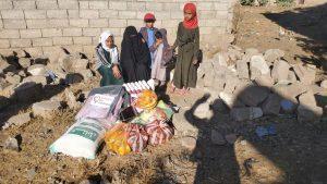 comida para familias desplazadas en Yemen