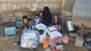 nuevo reparto packs alimentos en Yemen