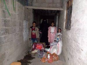 reparto alimentación familias Yemen
