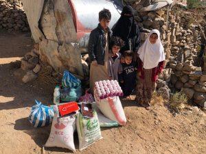 reparto comida familias Yemen