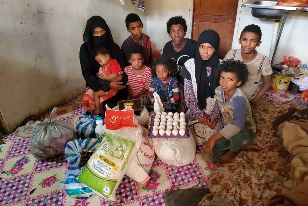 alimentos para las familias de Yemen