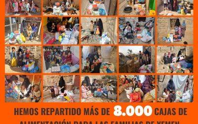 8.000 cajas de alimentación para más de 54.000 personas