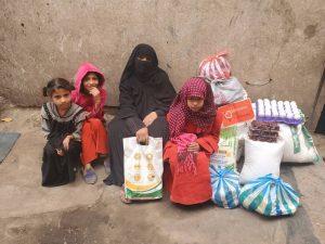Distribución alimentos para las familias, Yemen