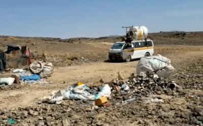 Traslado del depósito 8 en Arhab