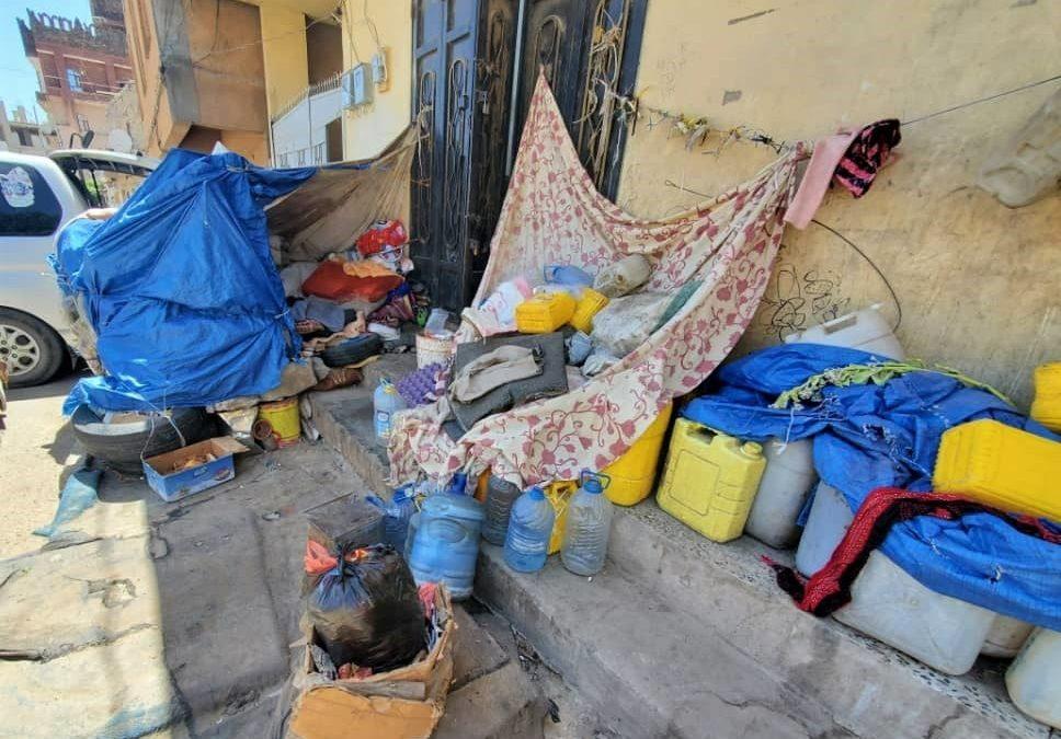 Aquí malvive una familia en Yemen