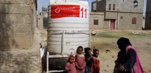 depóstio de agua en Yemen, solidarios sin fronteras