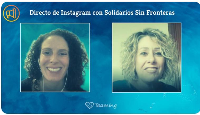 solidarios en Instagram live