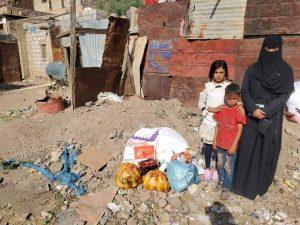 Reparto de alimentos en Yemen