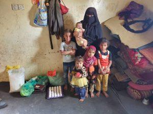 familias desplazadas en Yemen